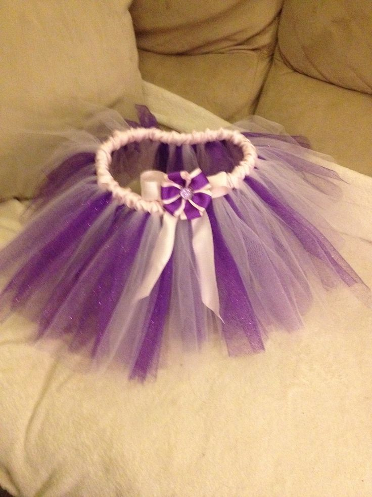 Pink and purple Tutu with Removable flower clip  an be worn as hair piece