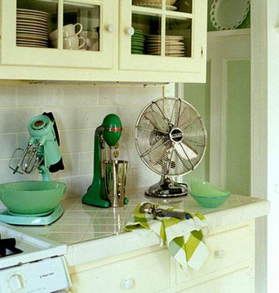 Vintage Green Colored Kitchen Appliances Gorgeous Green Hued Kitchens Myhomeideas Com