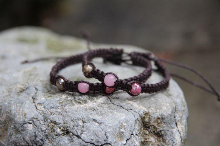 The Wicked Gift Shop Etsy shop https://www.etsy.com/uk/listing/200558632/brown-adjustable-macrame-bracelet-with