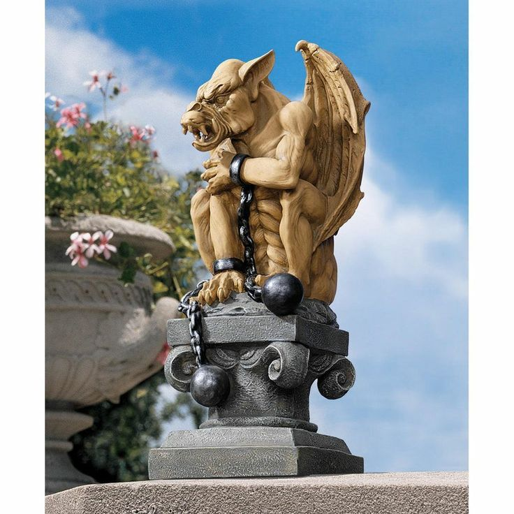 Design Toscano EU1026 Ball And Chain Gothic Dungeon Gargoyle Statue | Lawn  Ornaments