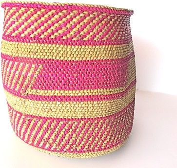 Hand Woven Iringa Basket - eclectic - baskets - The Loaded Trunk