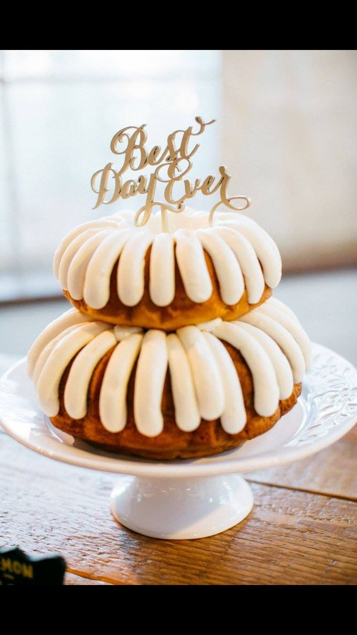 Our simple but delicious Wedding Cake from Nothing Bundt Cakes