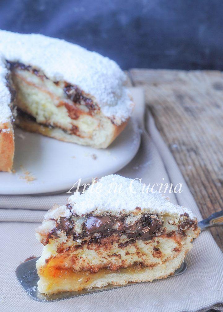 Torta monterossina ricetta dolce ripieno con crema vickyart arte in cucina