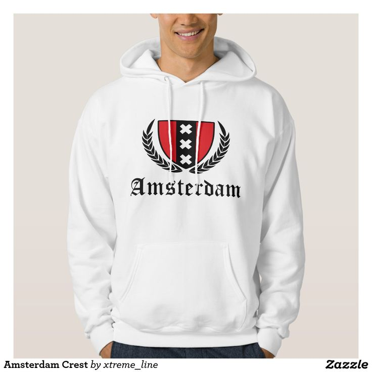 Amsterdam Crest Hooded Sweatshirt.