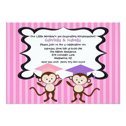 Best Kindergarten Graduation Invitations Images On