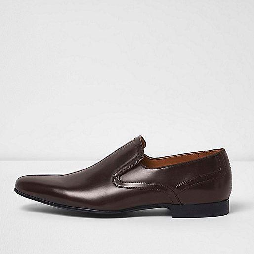 Dark brown smart slip on shoes - shoes - shoes / boots - men