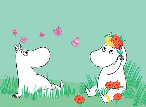 Moomintroll and Snorkmaiden by Tove Jansson - art print from King & McGaw