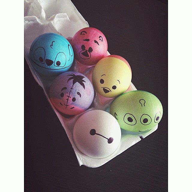 Homemade Squishy Collection It Z Just Cute : My Easter Eggs this year were Disney tsum tsum inspired! Sophia Pinterest
