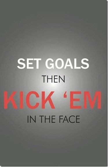 Daily Motivation - Set Goals and then Kick them in the FACE!