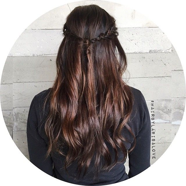 Габаритный шоколадно-коричневый с узлом рыбий хвост косы.   #HairByLarisaLove
