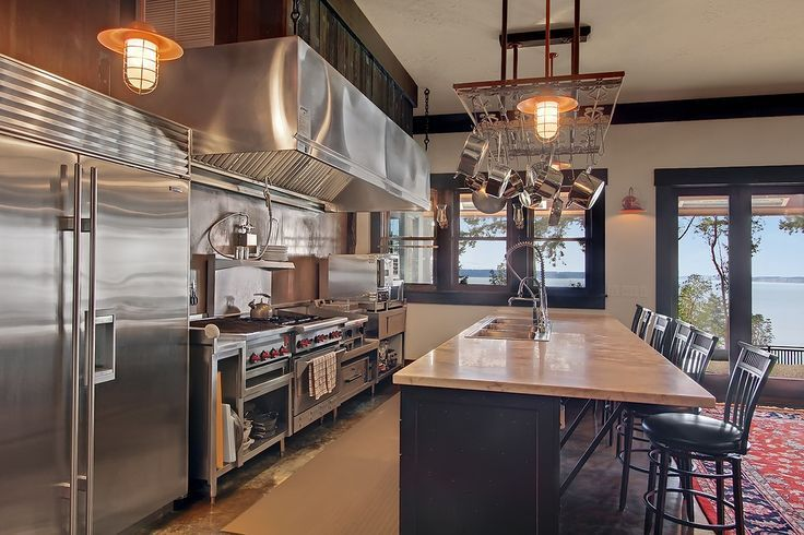 "industrial kitchen// or AKA this is a ""chef's"" kitchen. The bigger the kitchen the better!!:"