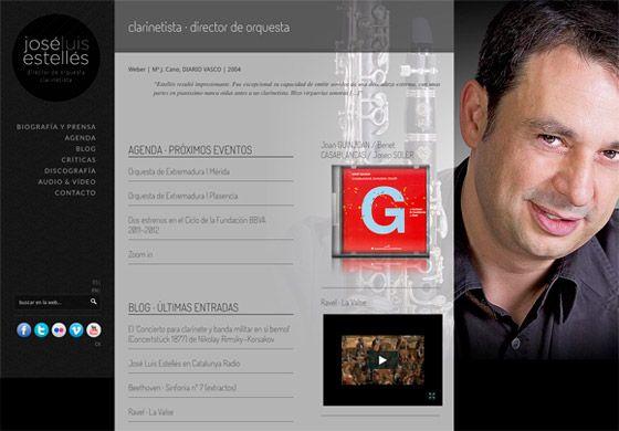 Diseño Web para Músico Director de Orquesta y Clarinetista en Granada. Trabajo realizado sobre Wordpress, con programación específica para visualización de discos del autor, críticas, y eventos gestionados por el mismo.