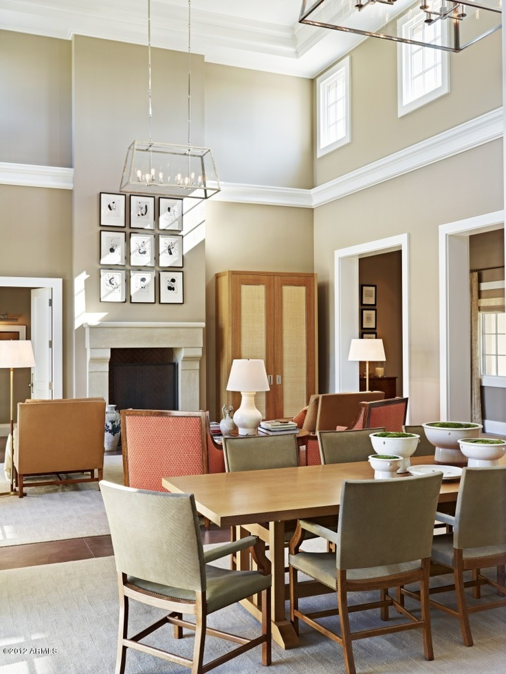 Dining Room Living Neutral Cream With A Hint Of Green