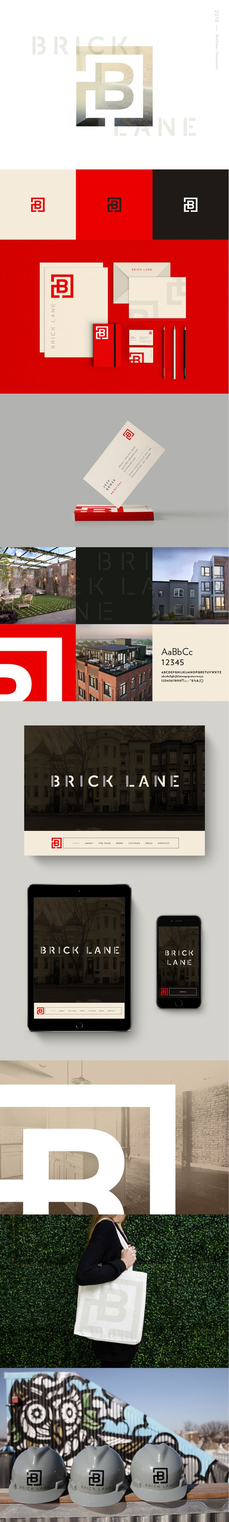 Brick Lane branding design by Rebecca Finn. Brick Lane is a real estate services company based in Washington, D.C.