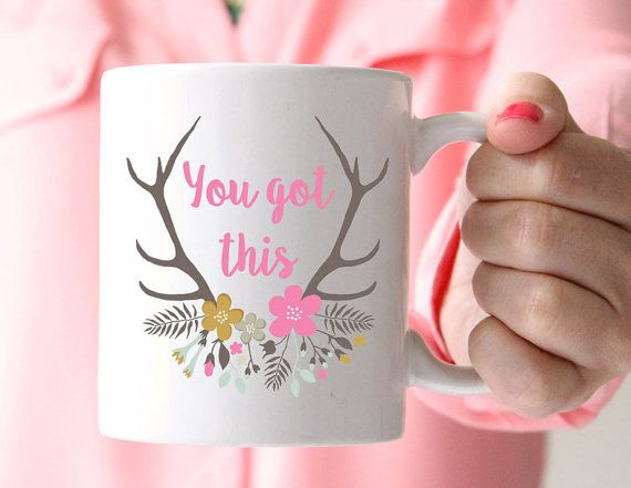 You Got This Mug, Floral Deer Mug, Statement Mug, Inspirational Quote, Coffee Cup, Happy Mug, UK