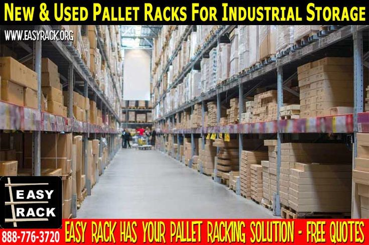 Pallet Racks For Sale In Houston TexasEasy Rack is your complete new & used pallet racks systems dealer – distributor & installation that will meet all your storage requirements. We specialize In the popular teardrop designed pallet racks that offers 2″ adjustability for most efficient height usage. Our use pallet racks are available in many sizes and capacities up to 31′ high and 64′ wide which are  treated with Iron Phosphate and painted with a baked on enamel
