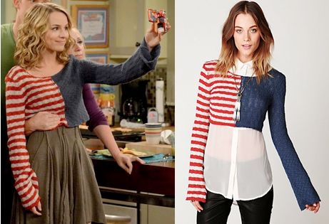 "Teddy Duncan (Bridgit Mendler) wears a Free People American Flag Crop Pullover in the color Flag Combo in Good Luck Charlie Season 4 Episode 20 ""Good Bye Charlie."" #goodluckcharlie #disney #teddyduncan"