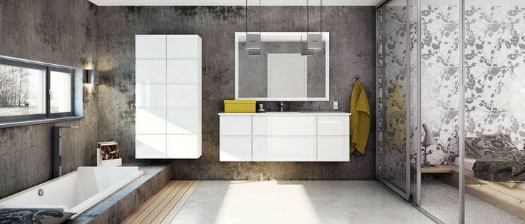 Minimalistisk og robust design i dette badeværelse - HTH