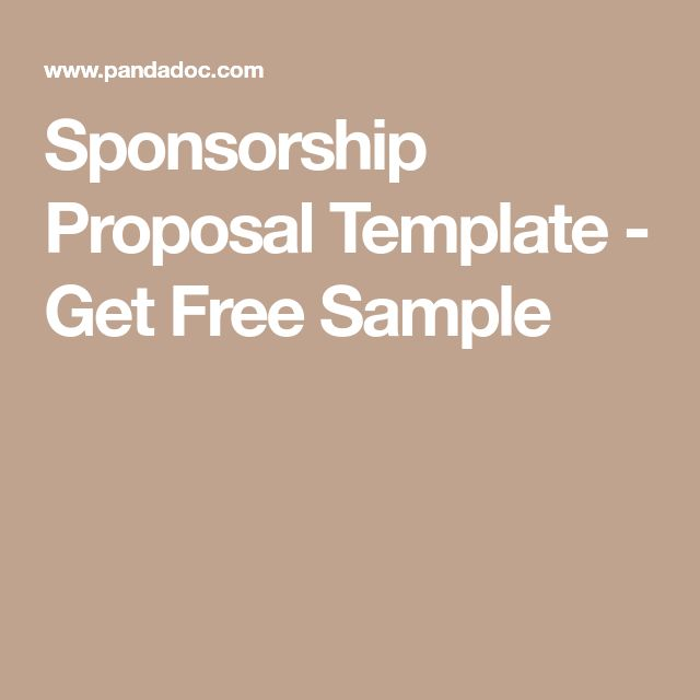 47 best Sponsorship ideas images on Pinterest Advertising - sample catering proposal template