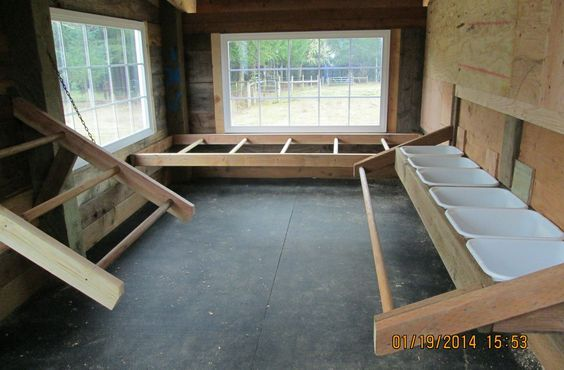 This is the inside of our new chicken house.