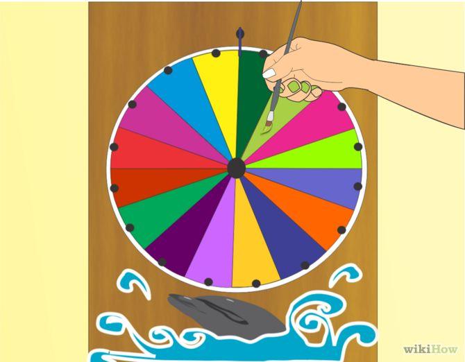 How to Make a Prize Wheel.  Vendor Shows? DECOR WHEEL  1.png http://www.pinterest.com/pin/create/bookmarklet/?media=http%3A%2F%2Fpad2.whstatic.com%2Fimages%2Fthumb%2Ff%2Ff7%2FDECOR-WHEEL--1.png%2F670px-DECOR-WHEEL--1.png&url=http%3A%2F%2Fwww.wikihow.com%2FMake-a-Prize-Wheel&description=DECOR%20WHEEL%20%201.png