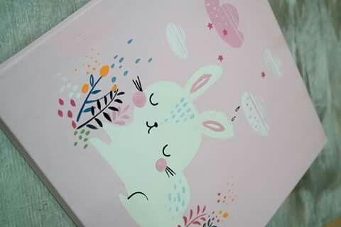 Handpaint rabbit