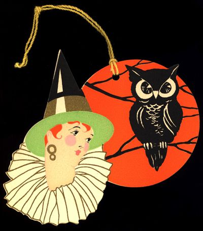 Gibson Witch and Owl, ca. 1925 | Sexy Witch