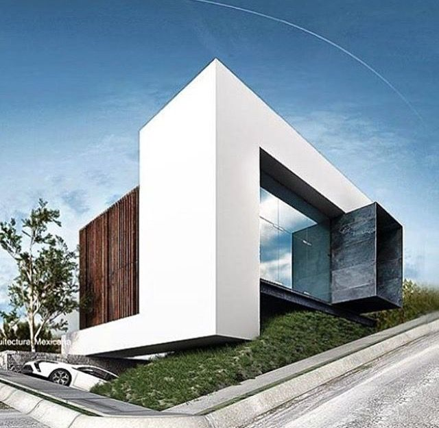 221 best modern villa design images on pinterest modern for Villa moderne design