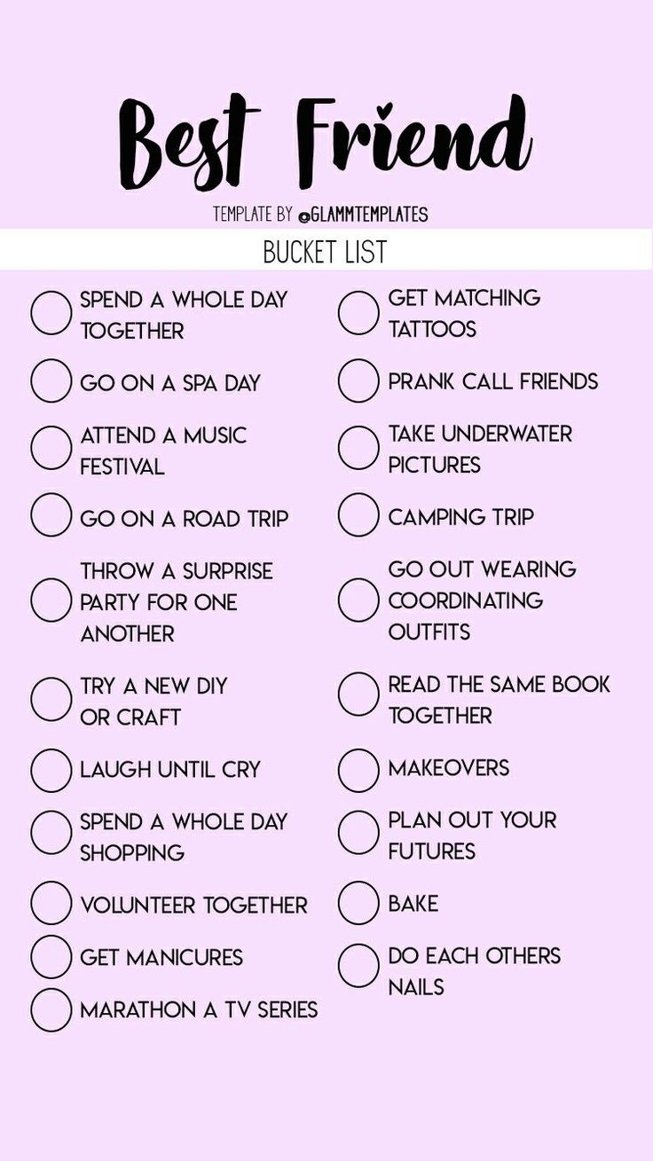 bff bucket list in 2020   Things to do at a sleepover