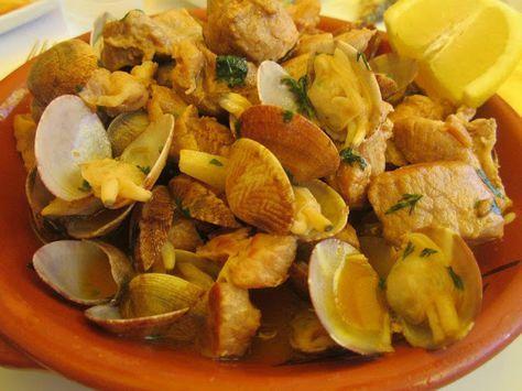 Receitas práticas de culinária: Carne de porco com ameijoas