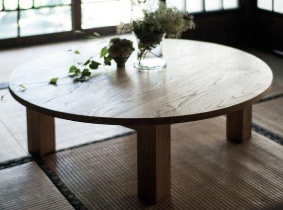 天然オイル仕上「栗の木」90cmちゃぶ台|テーブル・机|KUMAGREE|ハンドメイド通販・販売のCreema