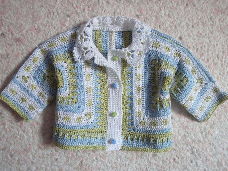 BSJ crochet version! -  Детская кофточка Часть 1 Children's zip jacket Crochet Part 1