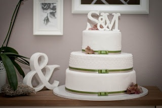 Hochzeitstorte grün/Hortensie