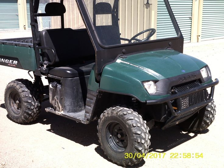 Used 2008 Polaris RANGER 500 EFI ATVs For Sale in Arizona. 2008 Polaris Ranger 500 UTV.  Low hrs 435, Has EFI, Hitch, cab, window, tires about 60 %, dump bed, everything works,  was used  on Golf course so light useage Located in Bullhead City AZ, 5500.00 or  Make offer<br /> 760-274-3564