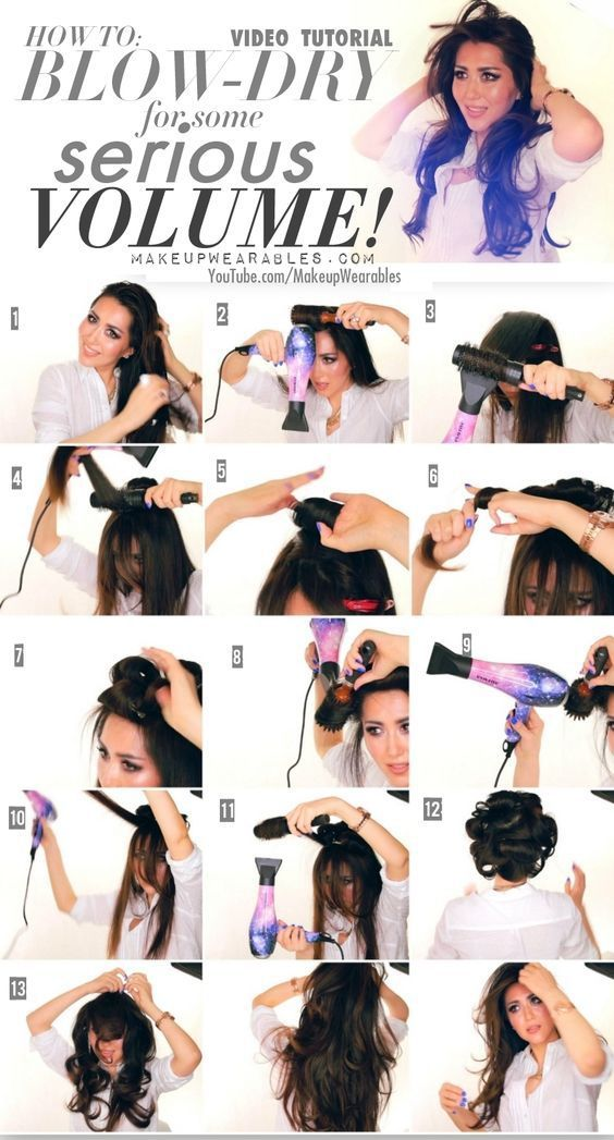 Creating A Professional Looking Hair Style At Home With Your Own Blow Dryer Women Fitness Magazine Blow Dry Hair Blowout Hair Dry Long Hair