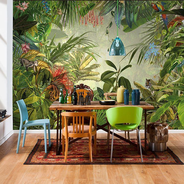 Show your wild side where it counts courtesy of Komar Decals. Full disclosure this vinyl-coated mural just might make your windows jealous. Designer link in bio! #Fab #InspiredDesign #HomeDecor #JungleFever by fab