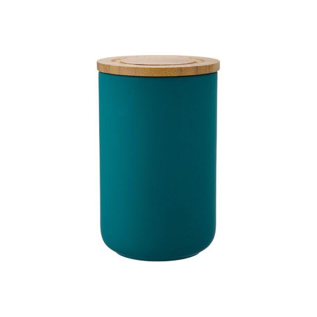 Ladelle Stak Soft Matt Teal Canister, 17cm Kitchen Storage Jar Food Stackable | eBay
