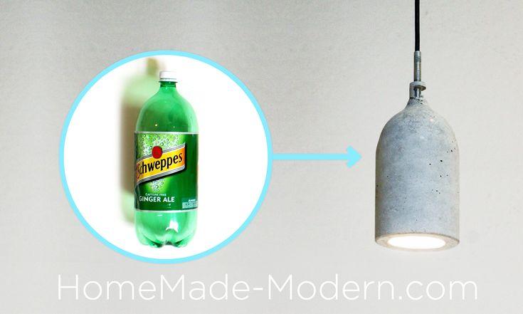 Concrete Lamp, DIY instructions from HomeMade-Modern.com