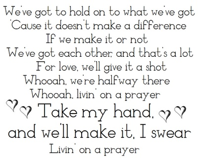 It's impossible to not sing Bon Jovi at the top of your lungs when Livin on a Prayer comes on!