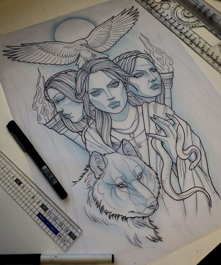 Sketch For A Back Piece Coming Up This Week #neotrad