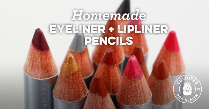 Even some homesteading women like to wear makeup once in a while! Homemade eyeliner/ lip liner