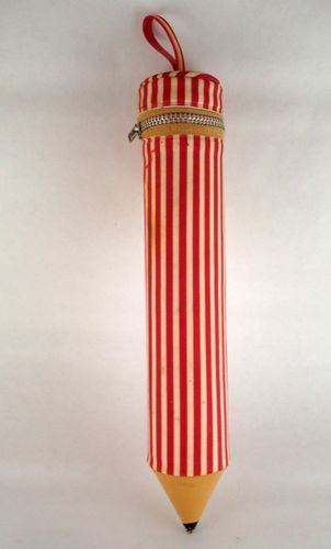 Vintage back-to-school supply a pencil shaped pencil case!
