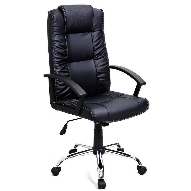 Executive Office Chair PU Leather Ergonomic High Back Computer Desk Task Black #1 #ExecutiveChair