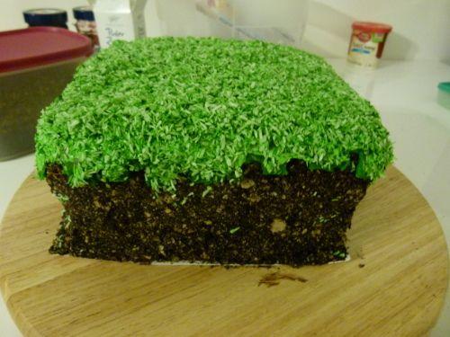 Geheime Rezepte: Minecraft Grasblock Kuchen
