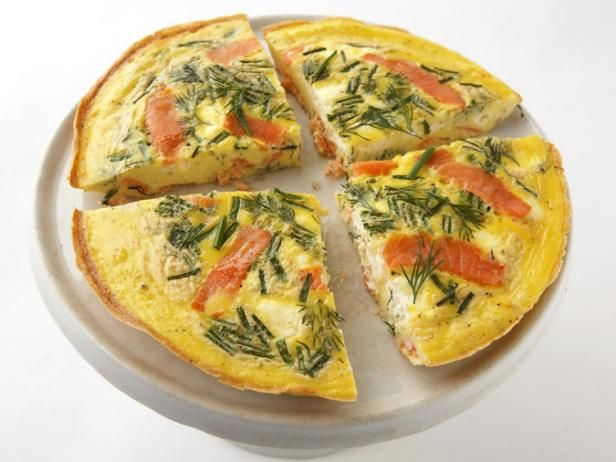 Smoked Salmon and Cream Cheese Frittata: Food Network, Chee Frittata, Cheese Frittata, Smoked Salmon, Cream Chee Recipes, Fast Recipes, Smoke Salmon, Savory Recipes, Cream Cheeses