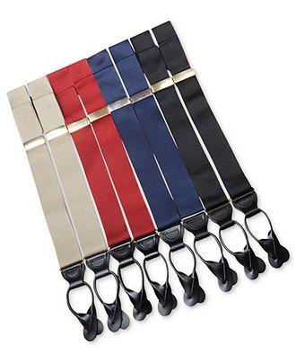 Trafalgar Suspenders, Hudson with Brass Clinch Braces - Men's Belts & Suspenders - Men - Macy's (in olive)