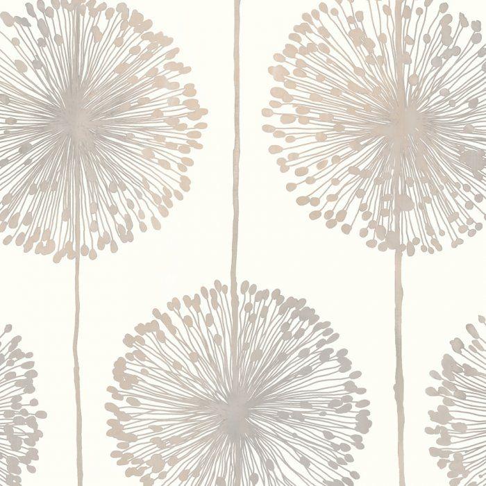 New Muriva Dandelion Floral Wallpaper Cream / Grey / Gold (J04207) - Muriva from I love wallpaper UK 8