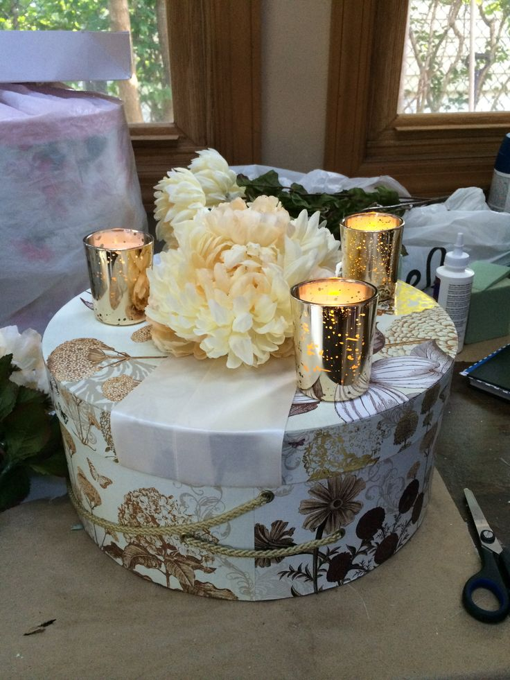 Best images about hat box centerpiece on pinterest