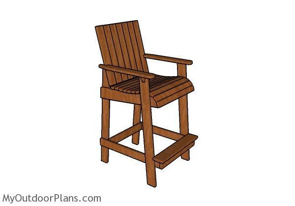 Adirondack Chair Plans Bar Height Adirondack Chair Plans   MyOutdoorPlans   Free Woodworking Plans and ...