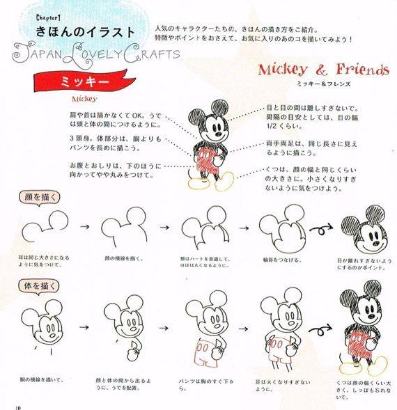 Ball Point Pen Disney Illustration 340 par JapanLovelyCrafts